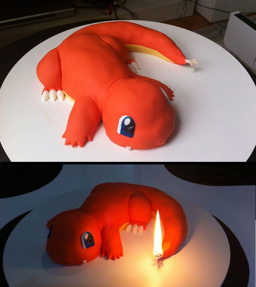 ヒトカゲのケーキと聞いて、よくあるクオリティかなと思ったら言葉を失った pic.twitter.com/rXPbHugevC