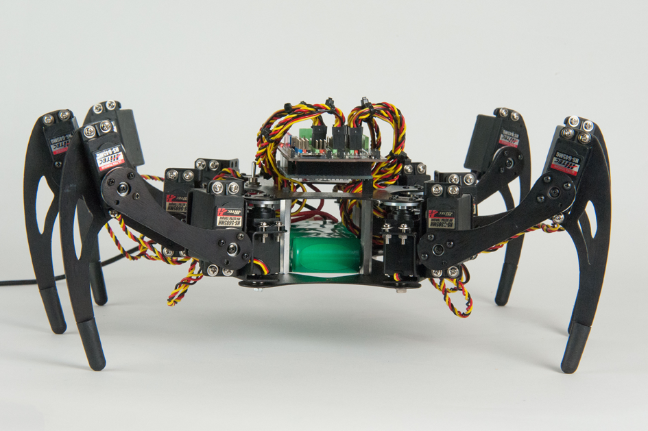 #Arduino Mega-powered hexapod by @dtex from the Make: JavaScript Robotics Early Release ebook: http://t.co/u6ZIkALnn1 http://t.co/usG1ve8W1K