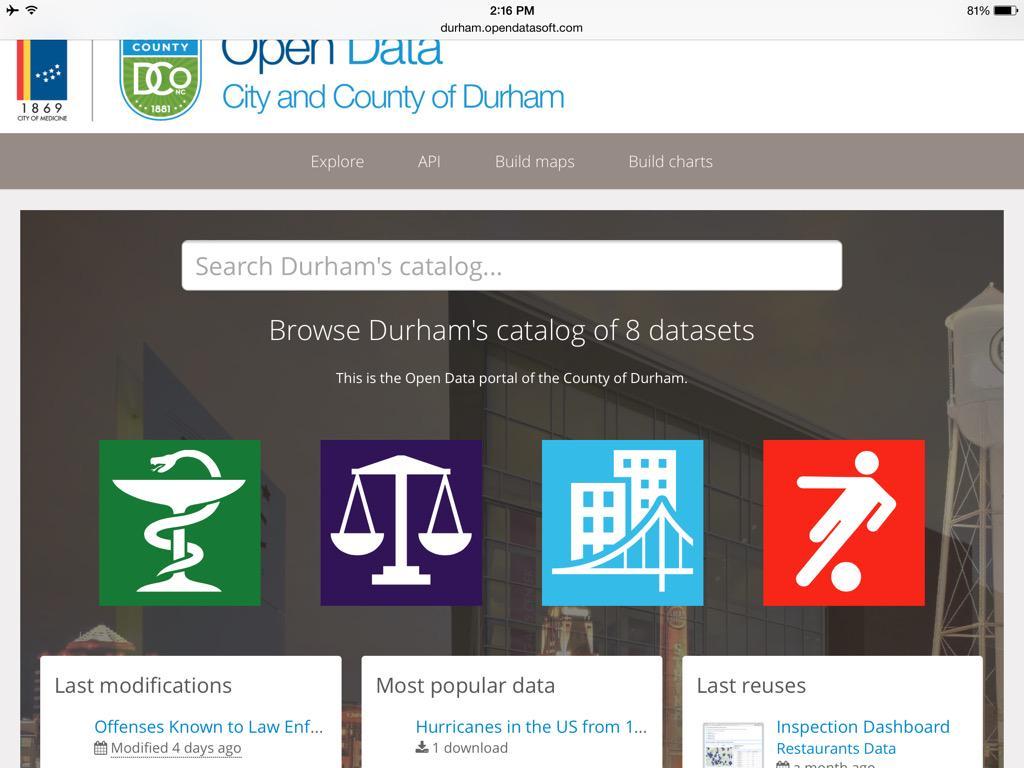 Impressive demo of #Durham #opendata portal and API aggregator http://t.co/47z2qawfMx via @thoumasd #TODD2015 http://t.co/SzpAlqSiC6