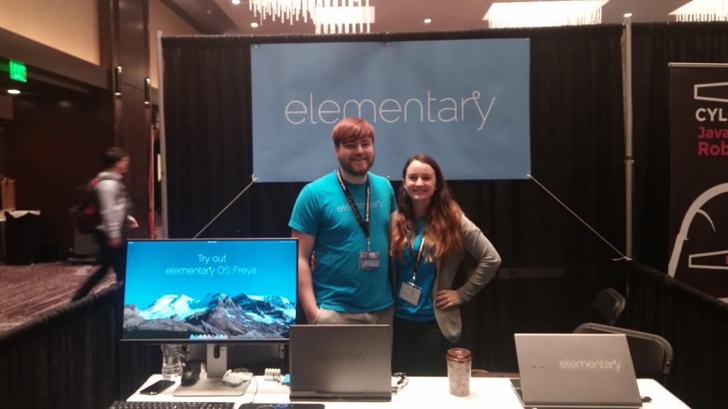 Beautiful, easy-to-use open-source operating system @elementary is at Booth 8 #SCaLE13x *first released 2011 http://t.co/nKdqGXyAM6