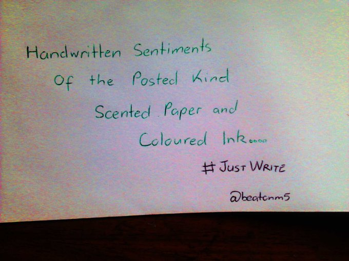 Handwritten sentiments of the posted kind