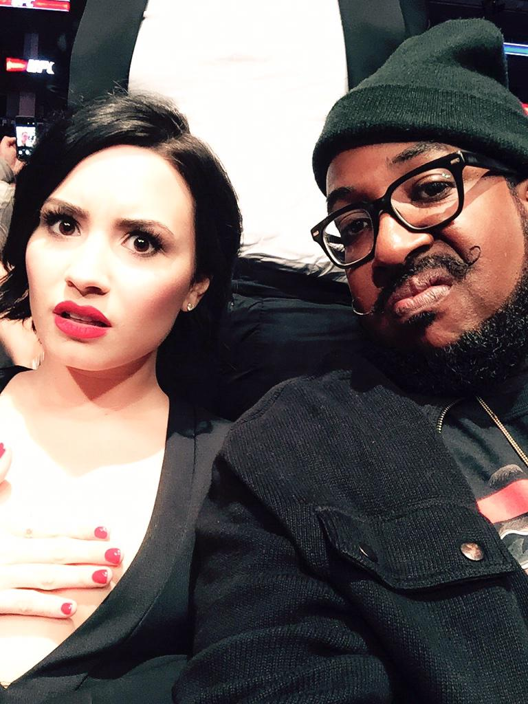 #UFC184 w/ this jerk @ddlovato. This was our reaction when @RondaRousey added another arm to her collection. #UFC http://t.co/NswdnjfR1u