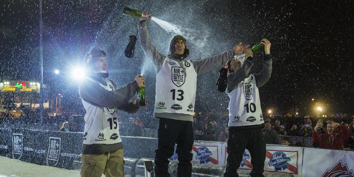 Champagne showers for #AirStyleLA champions Yuki Kadono (1st), @SebToots (2nd), & @stalesandbech (3rd). http://t.co/hhIfybck5B