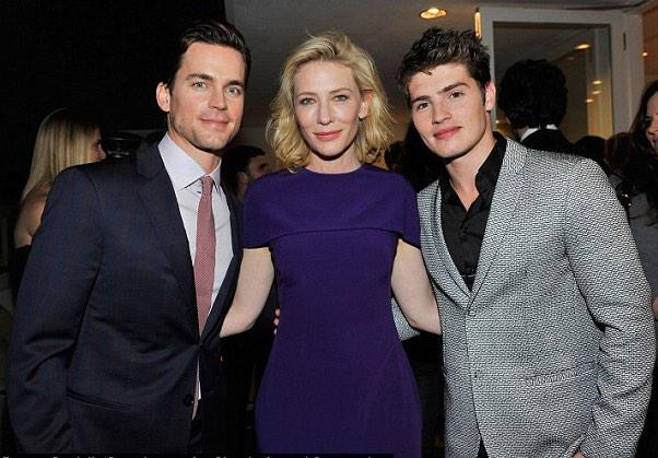 #GreggSulkin @GreggSulkin is all suited up in a gorgeous @armani suit w the beautiful host #CateBlanchett #MattBomer http://t.co/WeVSmKnNgF