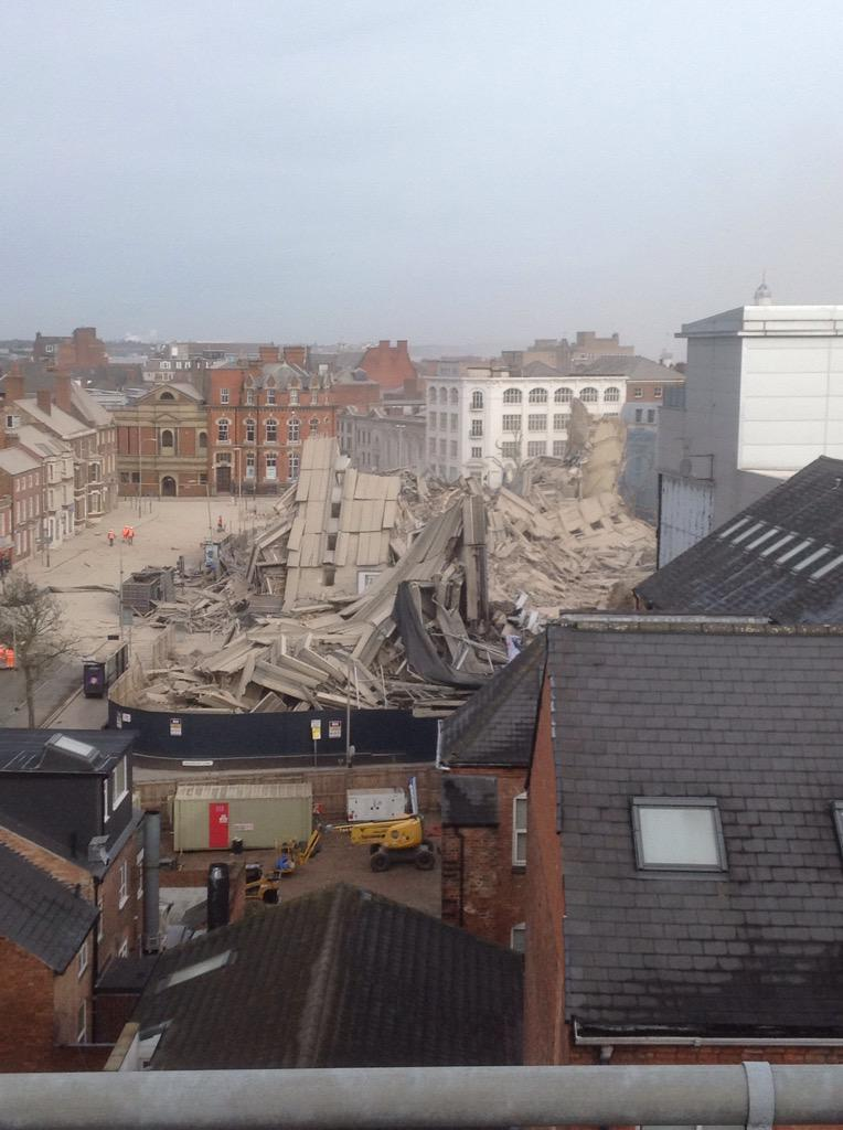 Former City Council Offices, New Walk Centre demolished