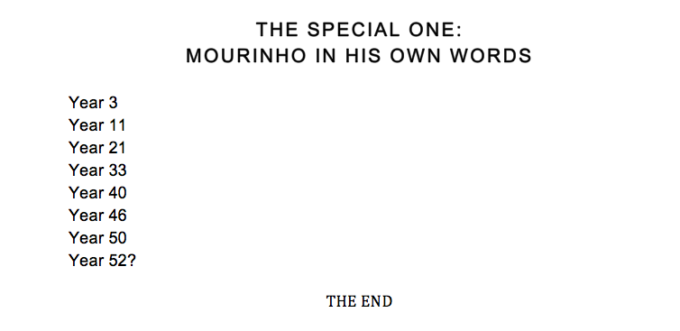 Here's Jose Mourinho's new autobiography in full. It really is a cracking read. http://t.co/vQQswyZTpO