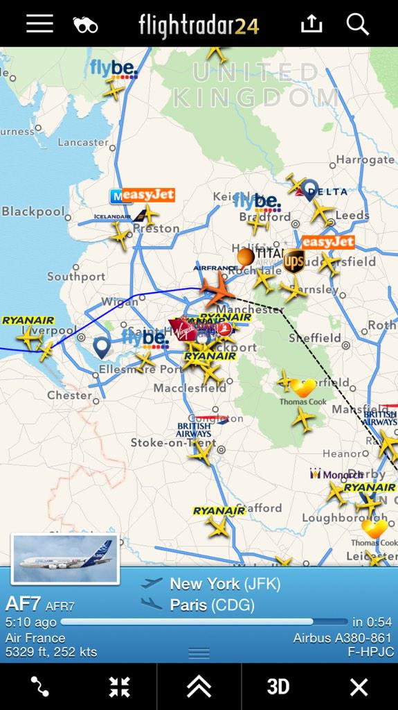 Air France passengers stranded in Manchester 'so pilot can rest'