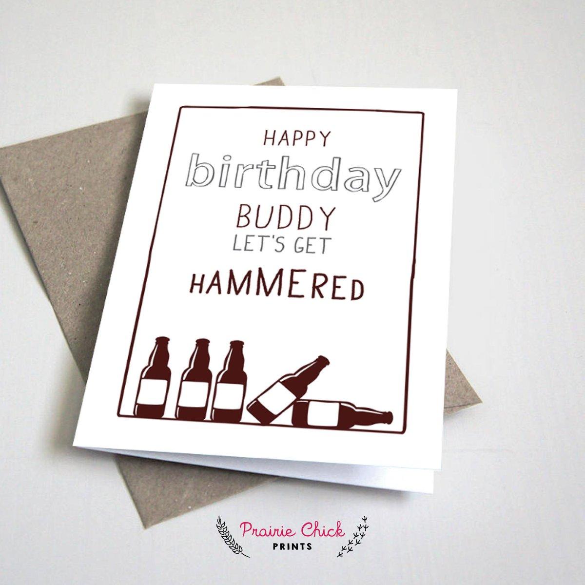 Prairie chick prints on twitter happy birthday buddy lets get prairie chick prints on twitter happy birthday buddy lets get hammered card httptfjdsf2t1b7 etsy canadian slang hammered yeg shoplocal m4hsunfo