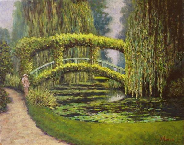 Monet in Giverny .oil on canvas board ...for sale http://t.co/Ocwkh9Lpeq