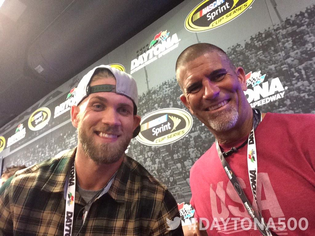 Bryce Harper Takes in the Daytona 500