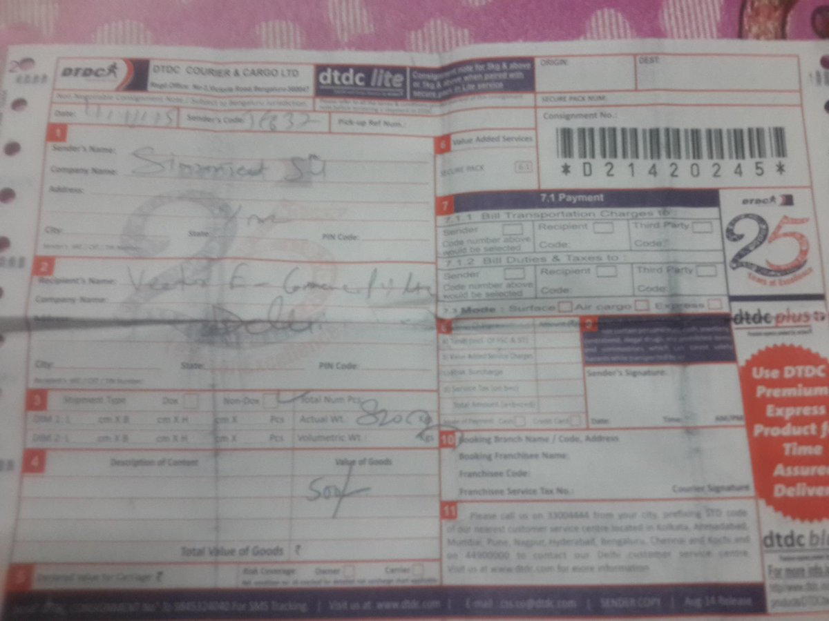 myntra on twitter simran 57 please share the courier receipt of