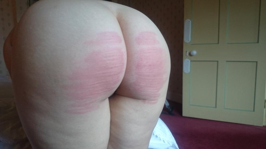 Pandora Blake after a 50 stroke cold caning