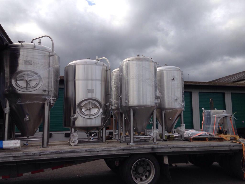 The new equipment is headed to #Roc! We can't wait to get it in house to create more great beers! #drinklocal http://t.co/8sFXbsNQiW
