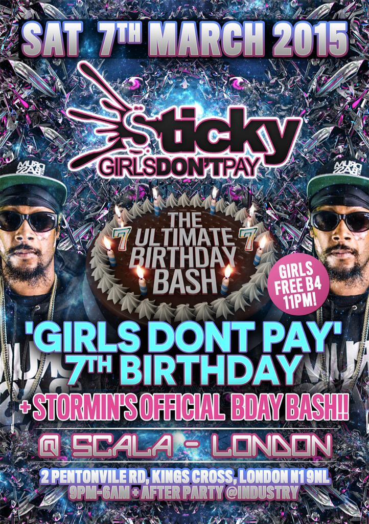 Sticky birthday along side @storminmc