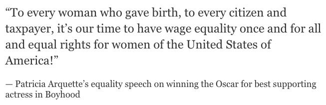 Patricia Arquette's equality speech http://t.co/ez8GBNdhF0 http://t.co/QoTVtXdzCf