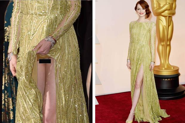 Red Carpet Crotch Flash Emma Stone Bares Groin In