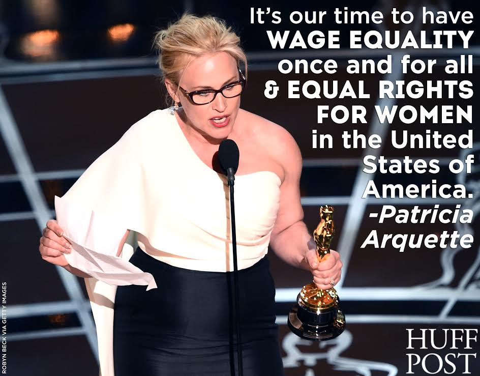 LOVE RT @HuffingtonPost:  http://t.co/Iiafk1dJYK @PattyArquette #Oscars2015