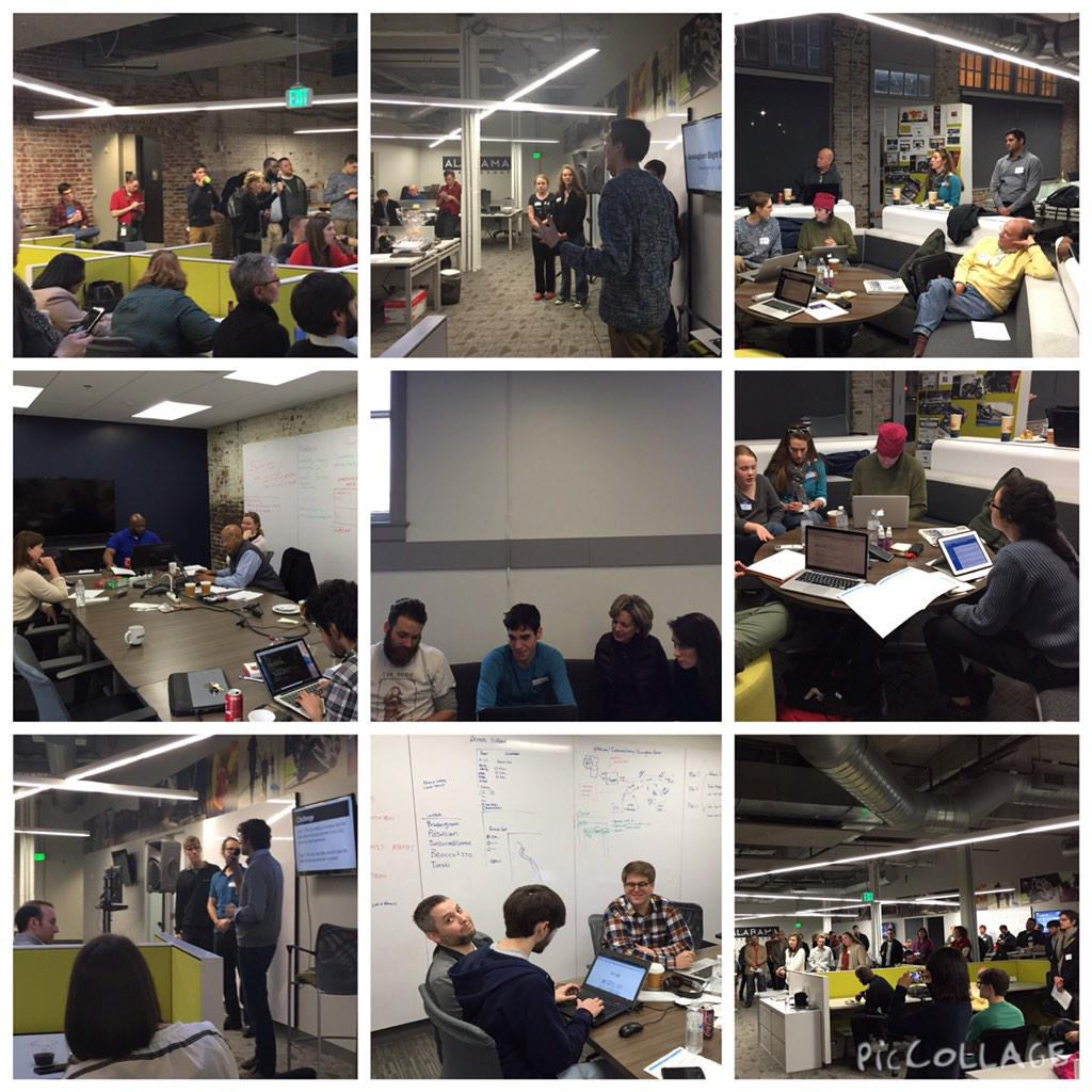 This weekend has been an outstanding display of tech collaboration and civic engagement. #ALhack #SmartCityHack http://t.co/uUnTvtNyhF