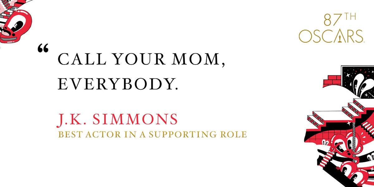 Well said, J.K. Simmons. #Oscars