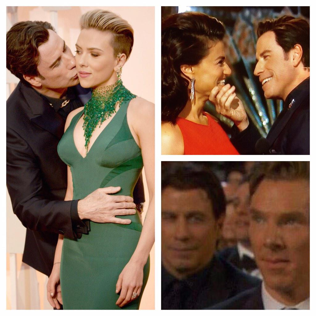 """@realtimwilliams: Congrats John Travolta... You single handidly creeped out the #Oscars2015 http://t.co/H8cEwz6Auq"""