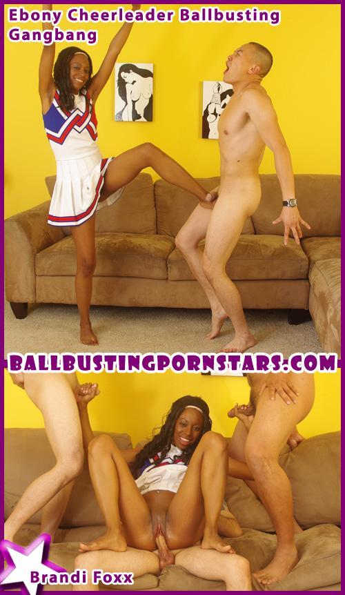 ebony cheerleader gangbang