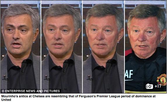Älskar Daily Mails bildlösning till Mourinhos nya kängor! http://www.dailymail.co.uk/sport/football/article-2965068/Jose-Mourinho-turning-Sir-Alex-Ferguson-dark-arts-managers-ruthless-winners-seeking-victory-means.html…