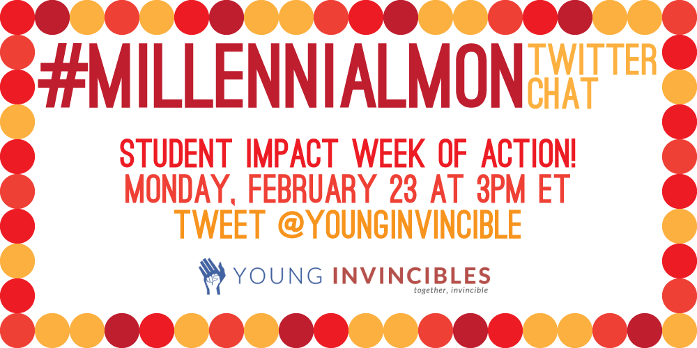 Sick of #college costs? Us too! #StudentImpact is all about changing that.  Learn more at #MillennialMon chat TODAY! http://t.co/CXA2fuzVnH