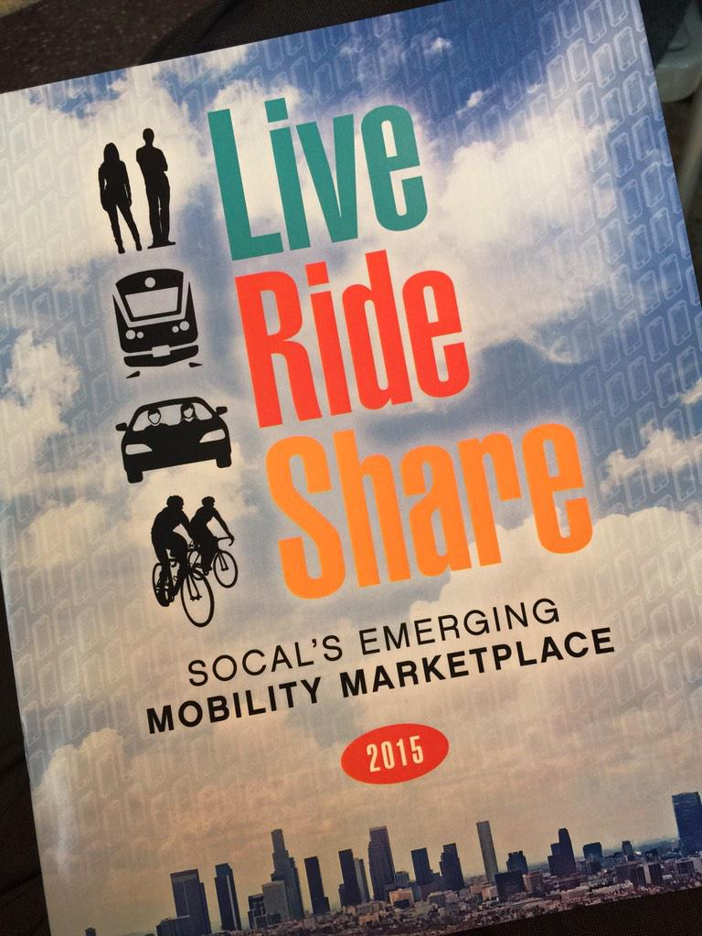 #LA's first mobility conference #CarSharing #LiveRideShare @LiveRideShare @DavidBohnettFdn #bikesharing http://t.co/FNm0PtBnvA