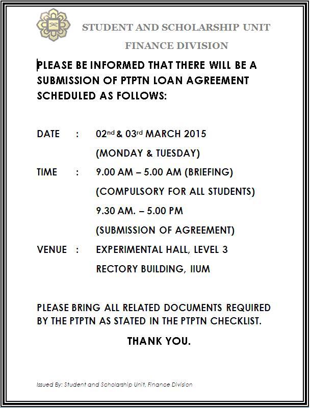 Iium Online On Twitter Ptptn Reminder For Students That Are