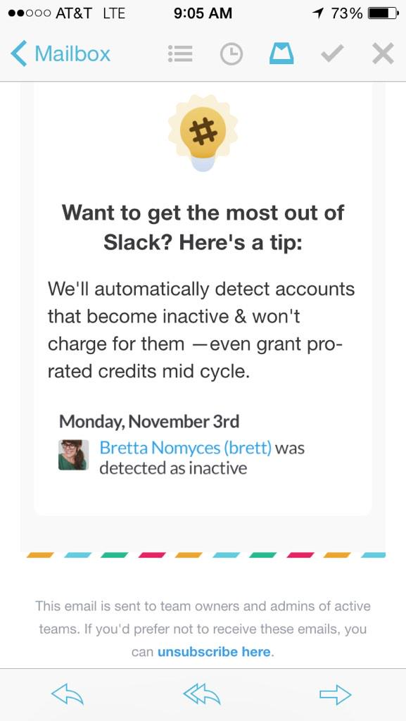 Never seen this before: @SlackHQ is so confident in its product that it will only charge companies for active users http://t.co/oXsVjoRyoT