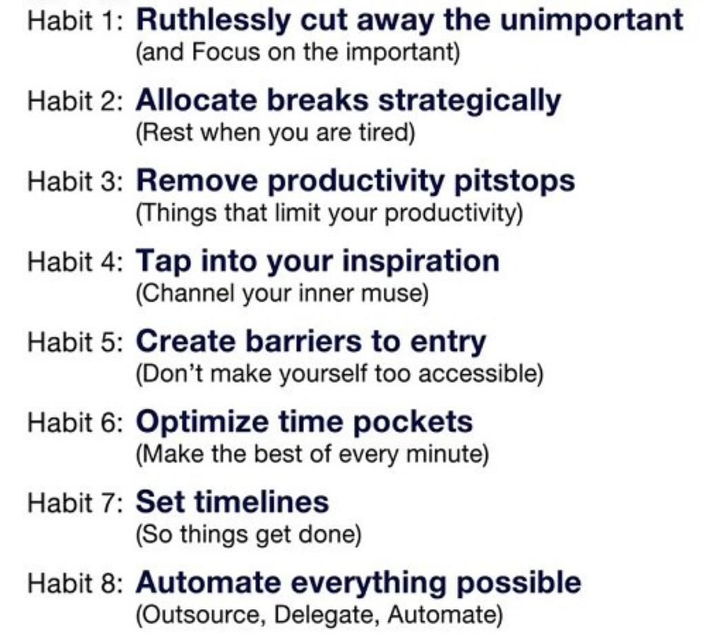 8 Habits of Highly Productive People 8 Habits of Highly Productive People new pictures