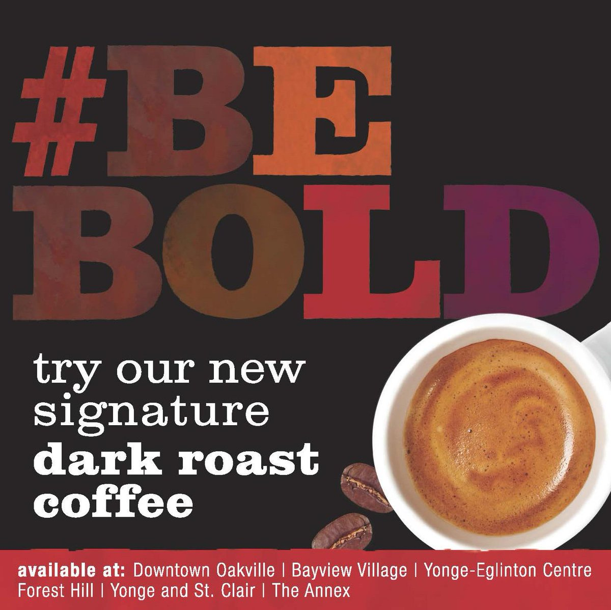 We have a new signature #darkroast coffee, aroma BOLD. First 10 RTs can treat a friend on us! #bebold http://t.co/plXgloG7Hk