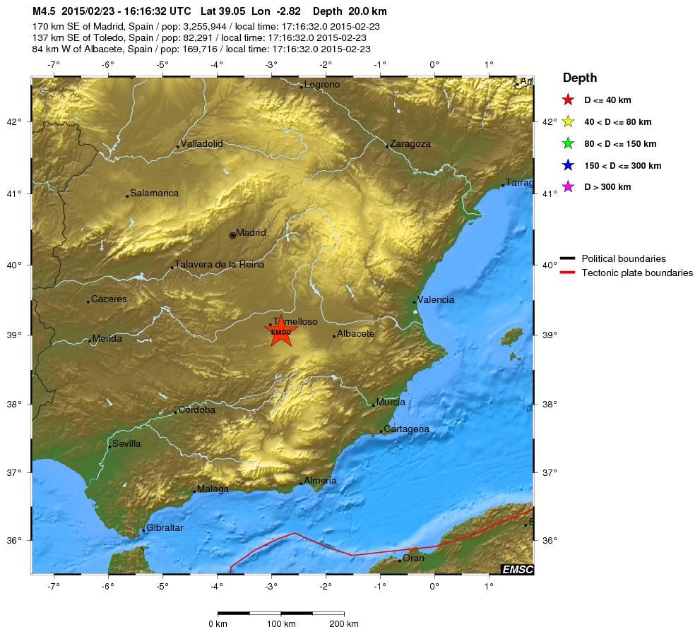 El terremoto de las 17.16h ha sido de magnitud 4.7 con una profundidad de 15 km. Epicentro en Ciudad Real: http://t.co/Z1lMkYOTq1