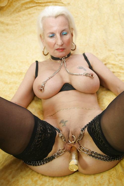 Pierced mature granny