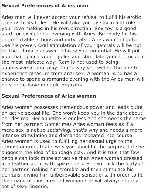 About aries sexuality