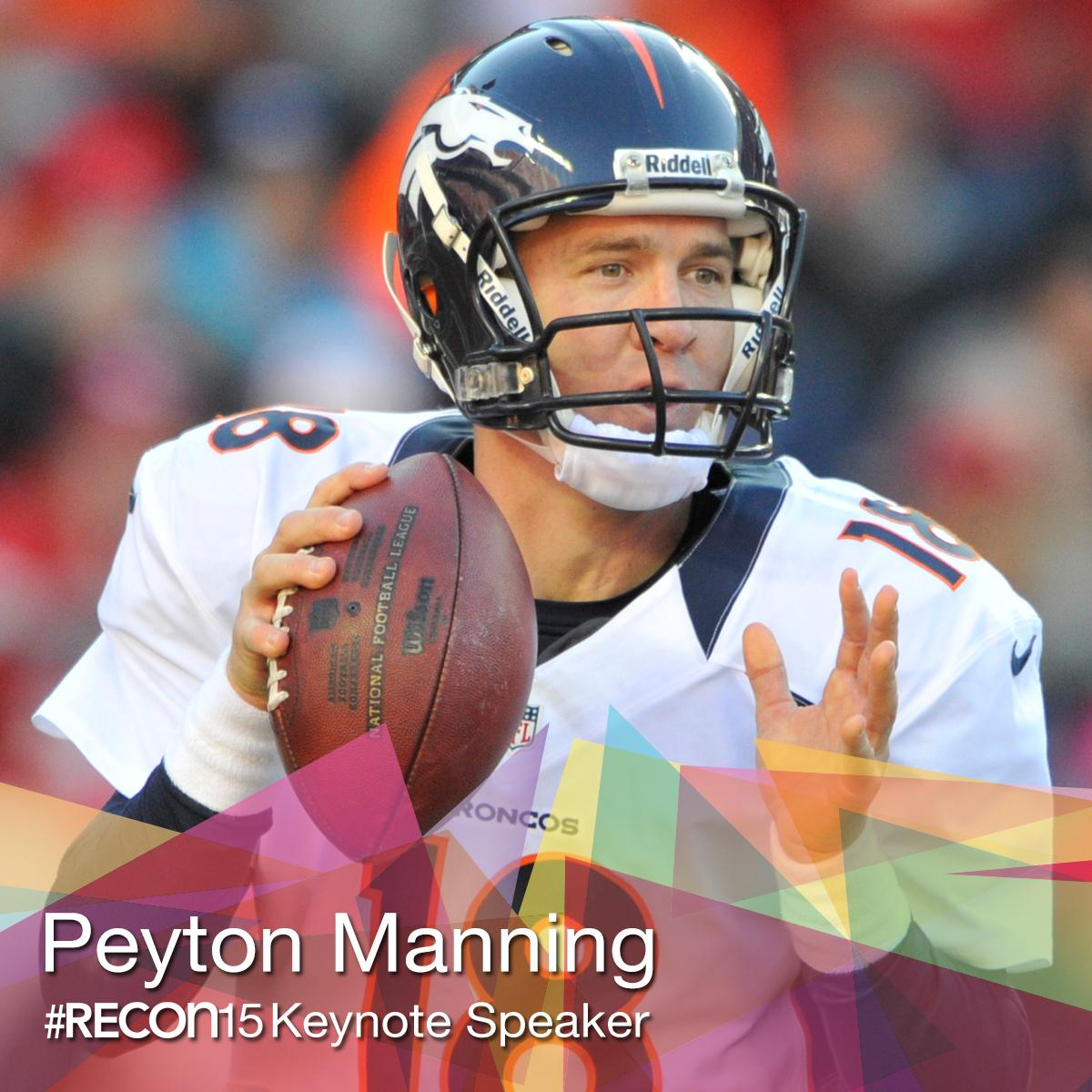 BREAKING NEWS: 5-time @NFL MVP #PeytonManning will give the keynote at #RECon15 http://t.co/fwW4JFvLRu #NFL #CRE http://t.co/zOuAgfX1Az