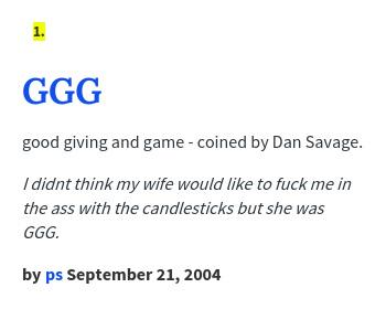 Dan savage ggg