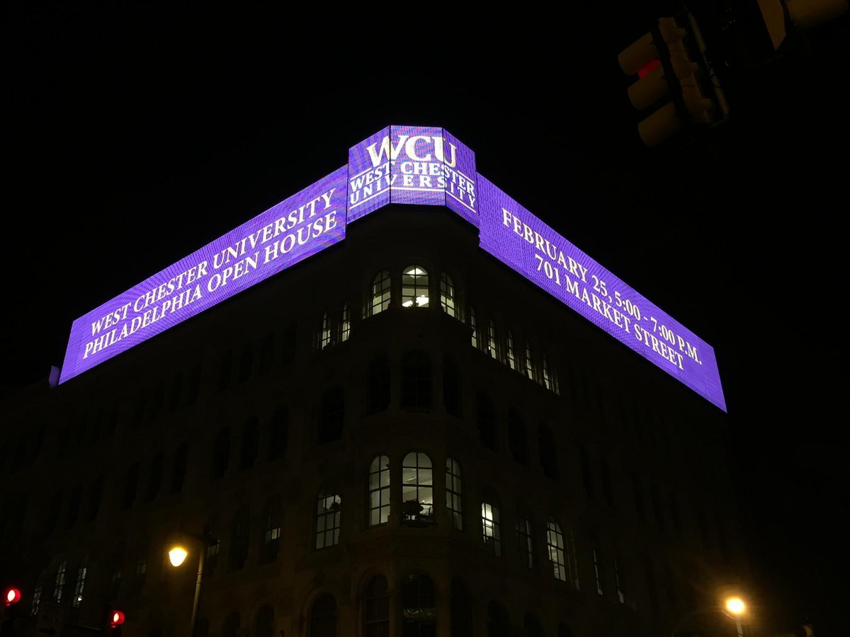 West Chester U On Twitter Purple And Gold Light Up The