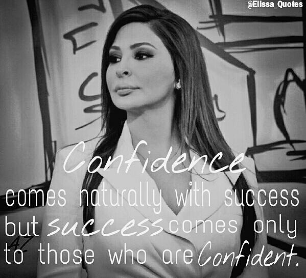 """Confidence Quotes On Twitter: Elissa Quotes On Twitter: """"@elissakh Confidence Comes"""