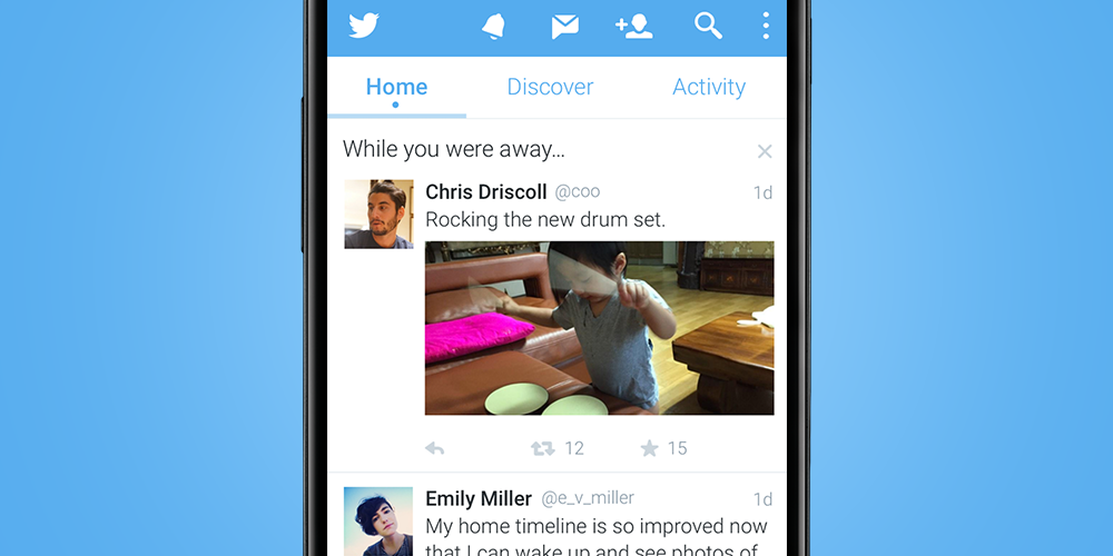 Update! now rolling out on android: a recap of top tweets ...