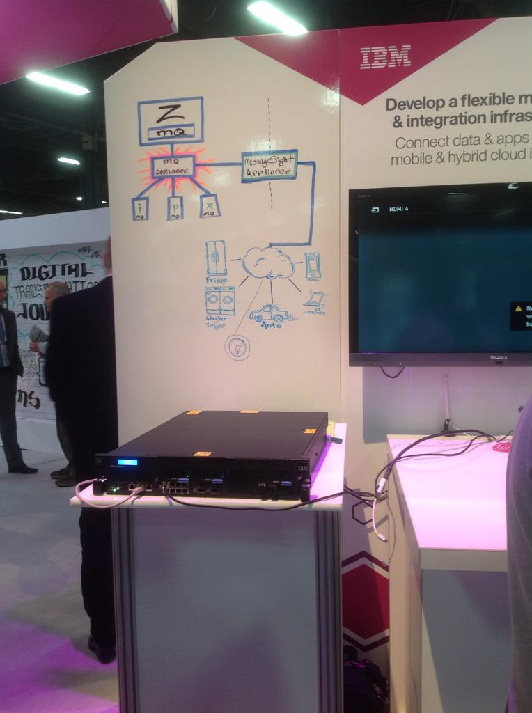 MQ Appliance at the Expo Ped at IBM InterConnect
