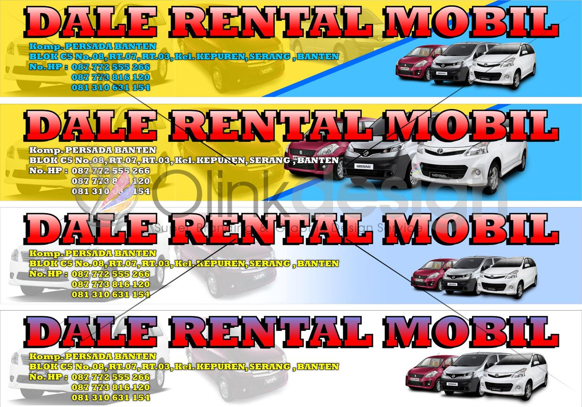 Desain Spanduk Rental Mobil