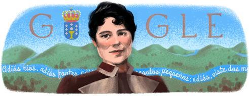 Hoxe o doodle é de Rosalía de Castro http://t.co/KtdDQmI457