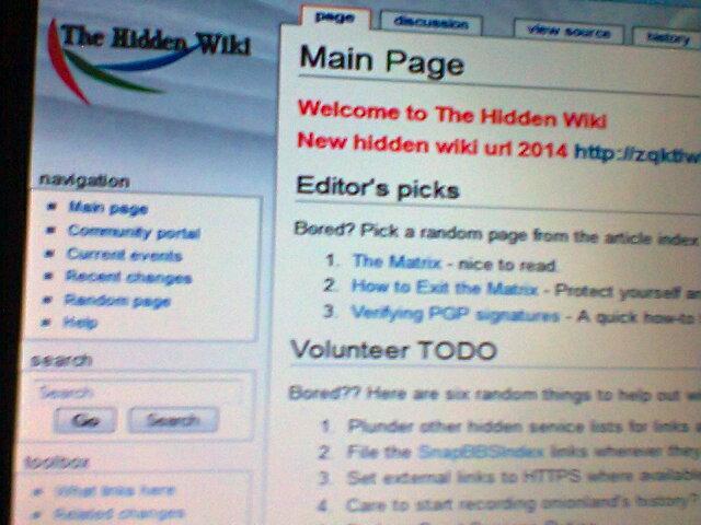 Η #hiddenwiki ετικέτα στο Twitter