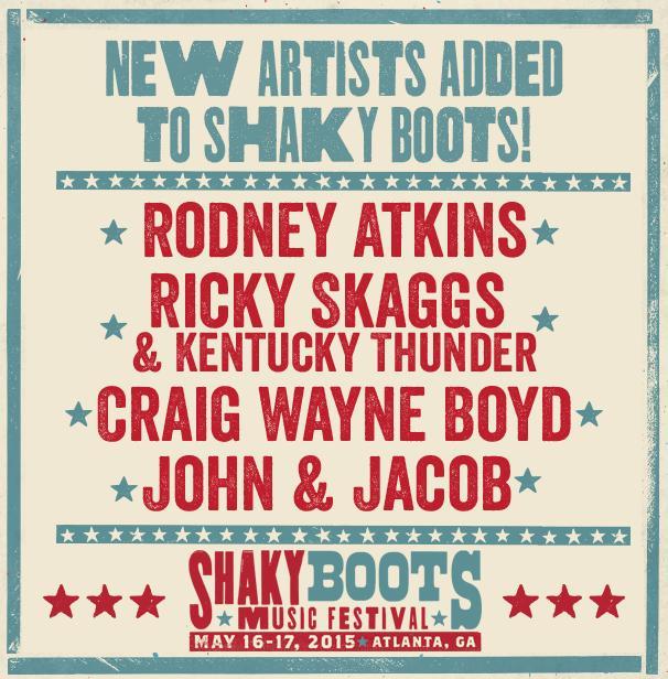 shaky boots festival atlanta new acts added