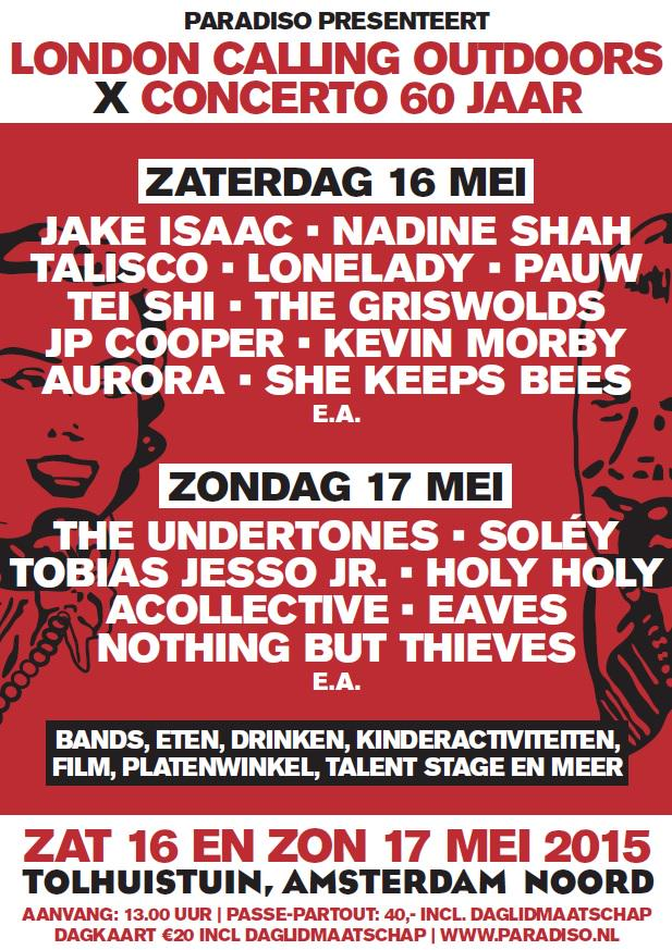 Acht nieuwe namen voor London Calling Outdoors x Concerto 60 jaar! Jake Isaac, Tei Shi e.a. http://t.co/itwm79KKEP http://t.co/iNTf9Biggd
