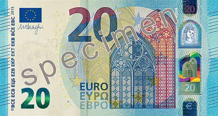 New €20 banknote unveiled in Frankfurt today http://t.co/Txggutqc3d http://t.co/CK8RiwzK0t