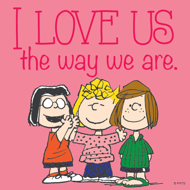 """PEANUTS On Twitter: """"I Love Us The Way We Are. Http://t.co"""