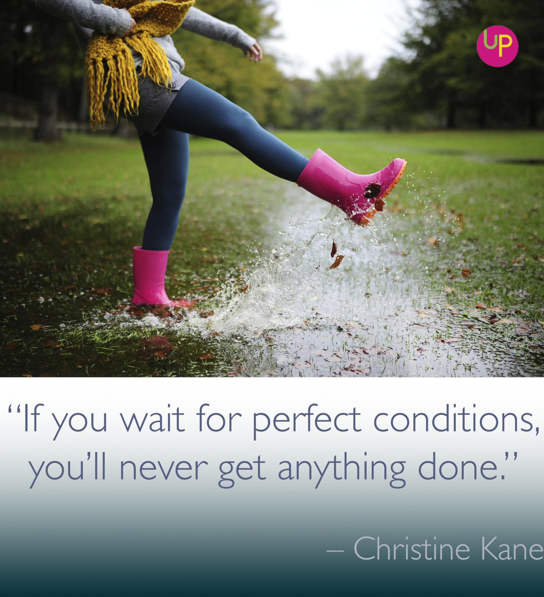 If you wait for perfect conditions, you'll never get anything done. #justdoit http://t.co/2XPGIPVJQI