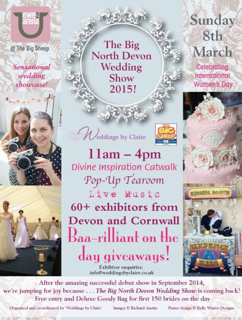 It's coming. Our fabulous Big North Devon Wedding Show is nearly here. #bridestobe #devon #cornwall #weddings http://t.co/Kcq4bUTzZy